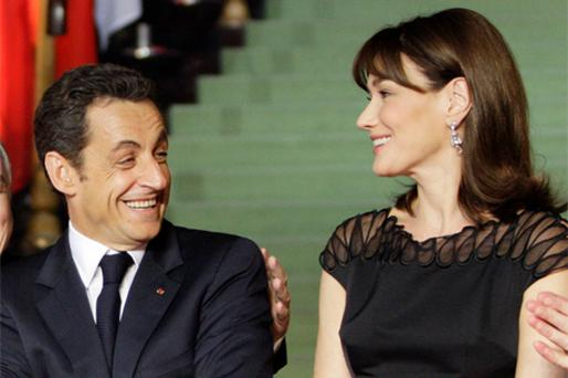 French President Nicolas Sarkozy and his wife Carla Bruni have robustly denied rumours of marital infidelities