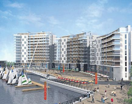 Artists impression of how the Titanic Quarter will look