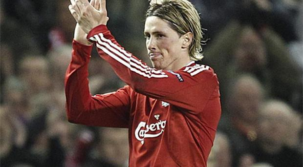 Liverpool' s Fernando Torres. Photo PA
