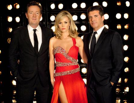 Britain's Got Talent judges Piers Morgan, Amanda Holden and Simon Cowell. Photo courtesy of ITV