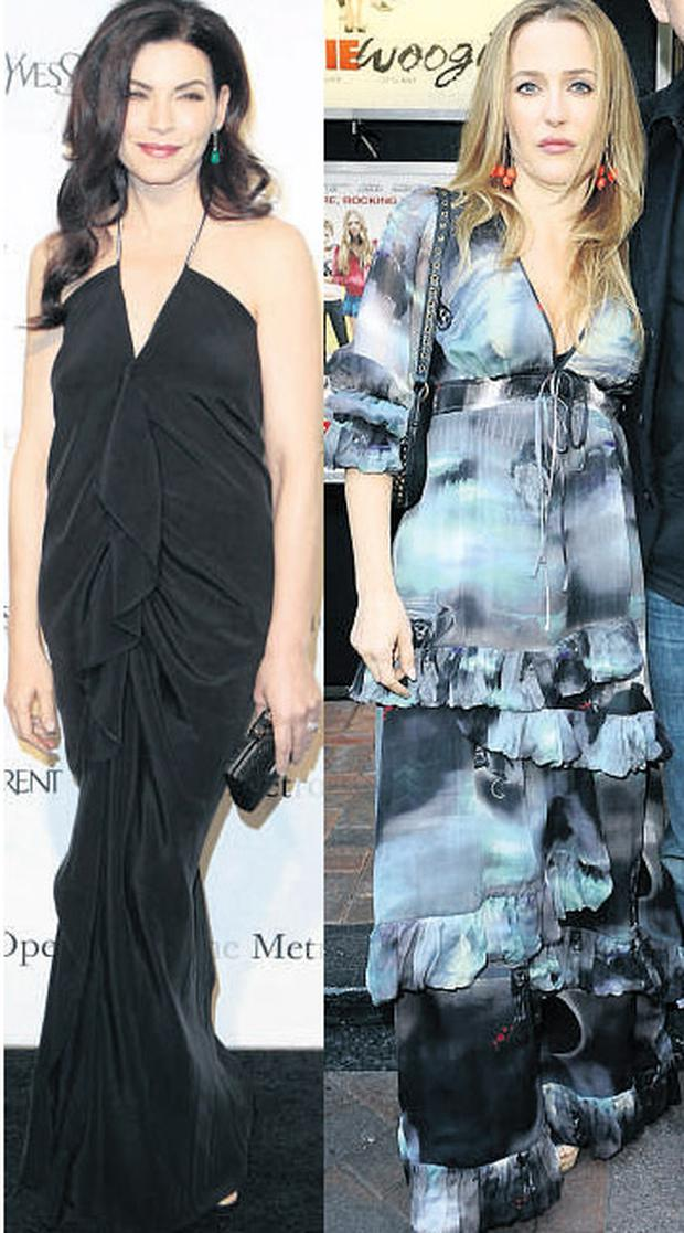 From left: Julianna Margulies and Gillian Anderson
