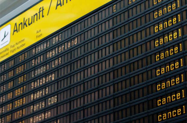 Flights to and from Berlin's Tegel airport were briefly suspended Saturday. Photo: Reuters