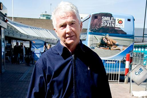 JETTING IN: Sean FitzPatrick arriving at Dublin Airport from Malaga last Tuesday. Photo: David Conachy