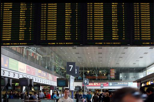 NO-FLY ZONE: Tens of thousands of Irish air travellers face continued disruption, with the south-westerly winds needed to dispel volcanic ash not likely to appear until the end of the week