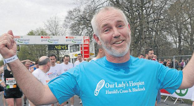 Today FM's Ray D'Arcy after completing the Great Ireland Run in the Phoenix Park
