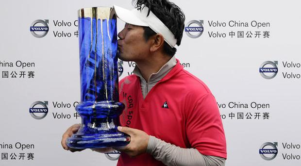 Ye Yang winner of the Volvo China Open. Photo: Getty Images