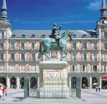 CAPITAL DISPLAY: La Plaza Mayor is one of Madrid's many grand architectural attractions