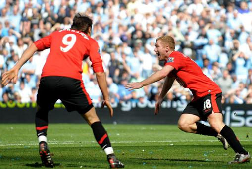 Darren Fletcher says Paul Scholes is a Manchester United legend. Photo: Getty Images