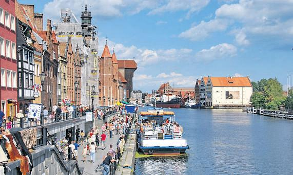 Areas such as Gdansk harbour and Sopot pier provide a pleasant complement to the city's busy streets.