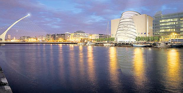 The National Convention Centre overlooks the Liffey