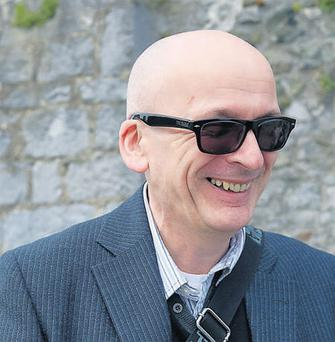 Roddy Doyle at Cuirt, the International Festival of Literature, in Galway yesterday.