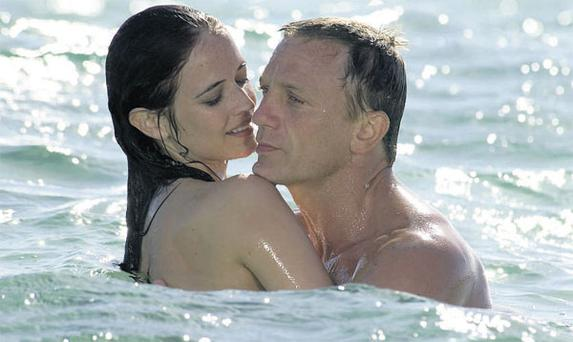 Daniel Craig with Eva Green in 'Casino Royale', but fans will have to wait for the 23rd Bond movie after studio MGM put itself up for sale.