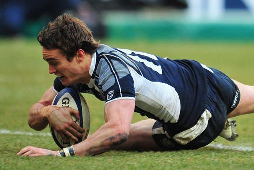 Thom Evans suffered severe neck damage during February's RBS 6 Nations game in Wales. Photo: Getty Images