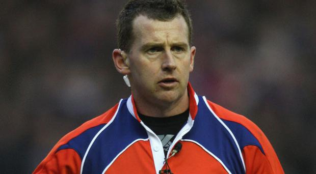 Nigel Owen will referee the Leinster v Toulon match. Photo: Getty Images