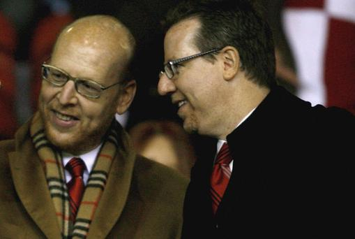 Exploiting the brand: Manchester United Joint Chairmen Bryan Glazer (R) and Avram Glazer in the stands Photo: Getty Images