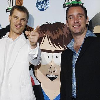 South Park creators Matt Stone, left, and Trey Parker (AP)