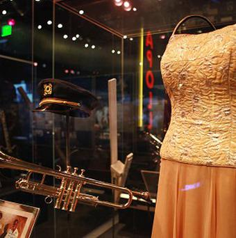 Louis Armstrong's trumpet and Ella Fitzgerald's dress
