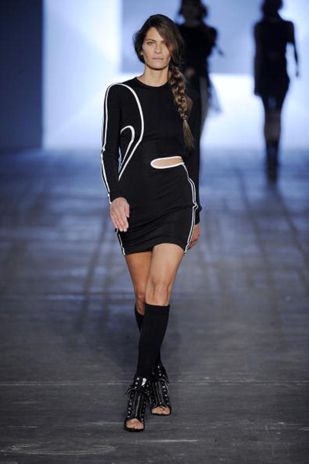 NEW YORK - SEPTEMBER 12: (UK OUT) A model walks the runway during the Alexander Wang Spring Summer 2010 Ready To Wear show, part of Mercedes-Benz Fashion Week at Pier 94 on September 12, 2009 in New York, New York. (Photo by Karl Prouse/Catwalking/Getty Images)