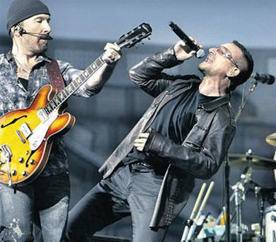 U2 topped the Irish music rich list with €487m