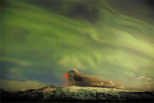 The Northern Lights are seen from near Iceland's Eyjafjallajokull volcano. Photo: Reuters