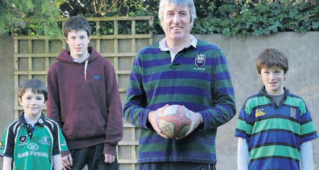 John O'Donnell, who is also a rugby coach, loves supporting sons Cillian, Seán and Conor.