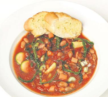 Hearty tuscan bean soup