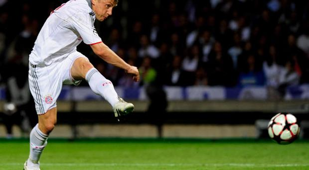 Ivica Olic scored a hat-trick against Lyon. Photo: Getty Images