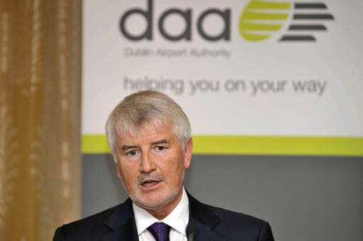 Declan Collier, chief executive at the Dublin Airport Authority press conference to announce end of year results for 2009. Photo: Sasko Lazarov / Photocall Ireland