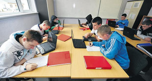 Students work together in a learning space at the William Glasser Quality School, Trim, Co Meath