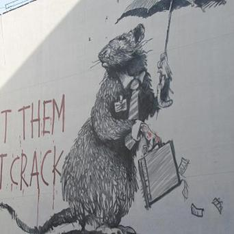 One of Banksy's rats