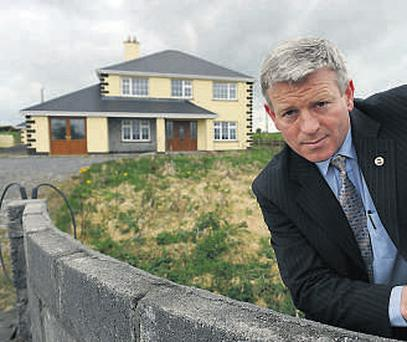 House for half price . . . auctioneer Ronan Long with a house with a guide price of €125,000 outside Tuam, Co Galway