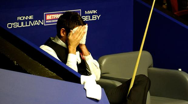 A disappointed Ronnie O'Sullivan after being beaten by Mark Selby. Photo: Getty Images