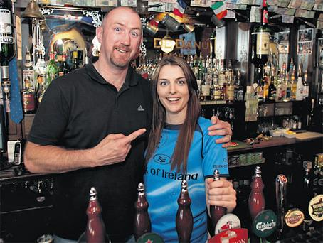 Trevor Brennan with the Herald's Leinster ambassador Aoife Anderson