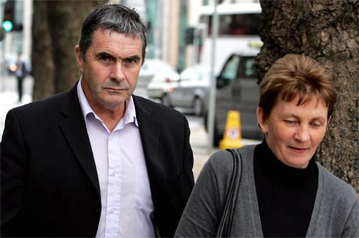 Martin Conmey and his wife Ann outside the Court of Criminal Appeal