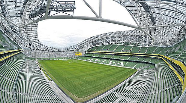 A general view of the new Aviva Stadium at the official opening