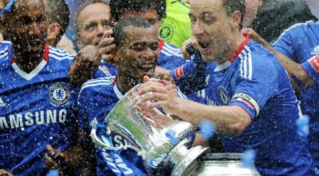 Chelsea captain John Terry and team mates celebrate winning the FA Cup. Photo: Getty Images