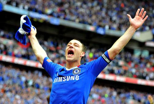 John Terry celegrates after Chelsea wins the FA Cup. Photo: Getty Images