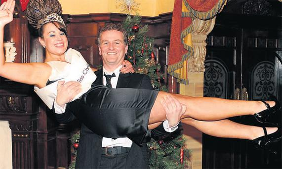 Daithi O Se has some experience in hosting beauty pageants, including this one, where Caoimhe Clifton was crowned Miss Christmas in 2008.