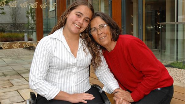 Aline Barros with her mother Sylvia. Photo: Aline Quinn