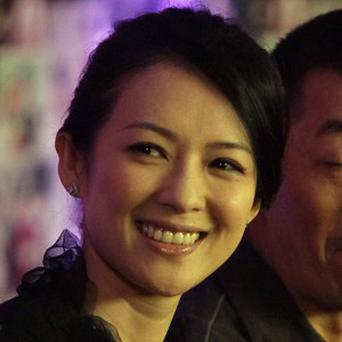 Zhang Ziyi appeared at a news conference for The Tale Of Magic