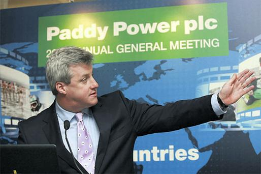 At Paddy Power's AGM yesterday, chief executive Patrick Kennedy described the Government's plan to tax internet and telephone betting to raise additional funds for Horse Racing Ireland as a 'charade'