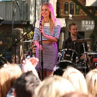 Diana Vickers will be seen playing from the Hollyoaks set