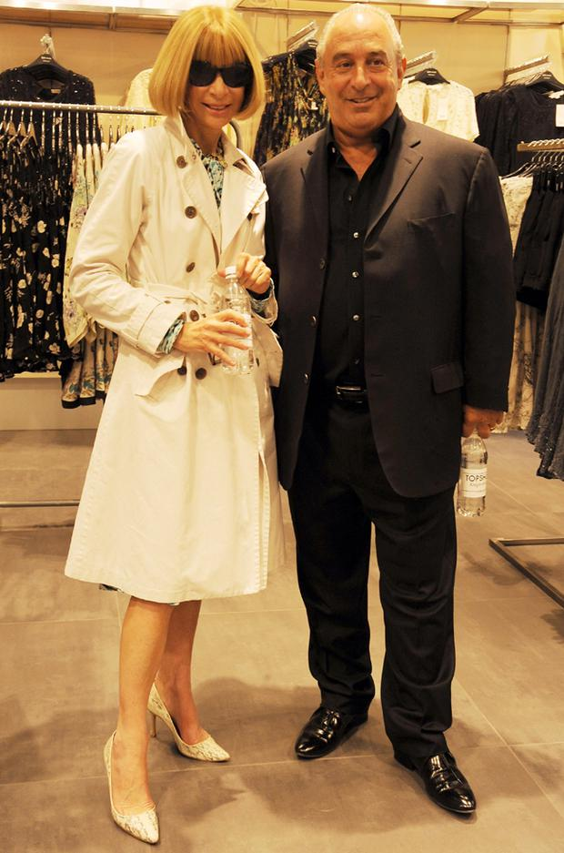 Anna Wintour and Sir Philip Green attend the launch party for the opening of TopShop's Knightsbridge. Photo: Getty Images