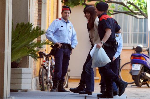 Lianne Smith as she is transferred to a prison in Girona, Spain