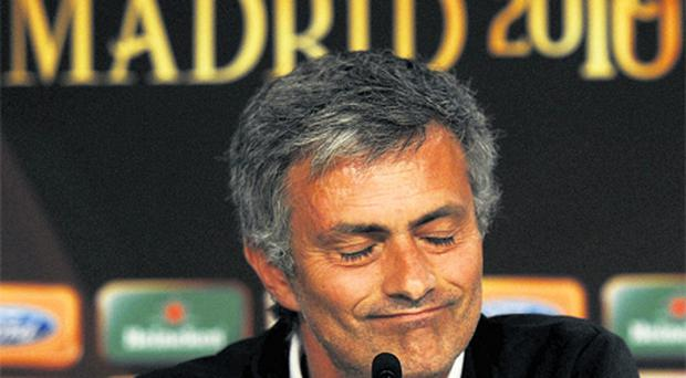 Jose Mourinho was presented with a plastic crown