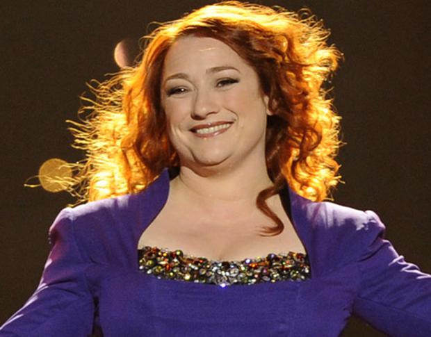 On song: Niamh Kavanagh at the dress rehearsal for tonight's Eurovision final. Photo: Getty Images