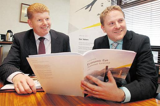 At the launch of the Ernst & Young Economic Eye economic forecast were Mike McKerr, managing partner of Ernst & Young's Irish practice, and Neil Gibson, senior adviser to the Economic Eye
