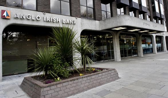 Anglo Irish Bank headquarters in Dubln. Photo: Doug O'Connor