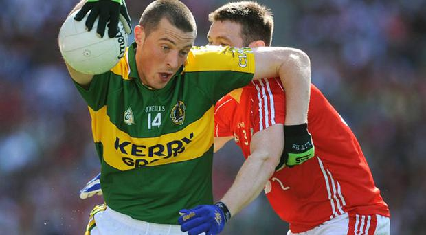 'People want to see Kieran Donaghy catch the ball and his Cork marker hit him with a good shoulder,' says Larry Tompkins, who was not afraid of the physical dimension of the game during his playing days.