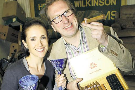 There's value in your attic – Maia Dunphy and Lesley Williams pictured with their purchases from The Herman Wilkinson Auction Rooms at Rathmines last year